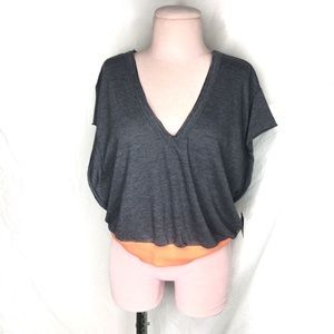 Free people movement happy camper tee charcoal XS